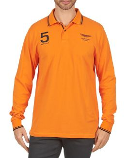 Amr Double Tip Men's Polo Shirt In Orange