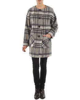 Check O Shape Women's Coat In Grey