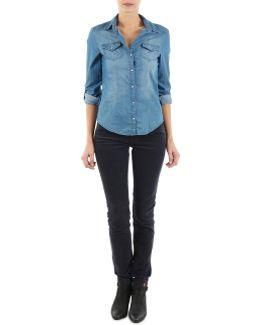High Skin Cord Women's Trousers In Blue