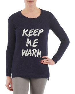 Intarsia Sweater Women's Sweatshirt In Blue