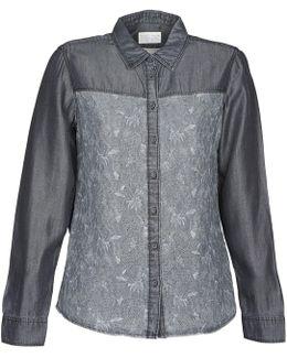 Denim Blouse Women's Shirt In Grey