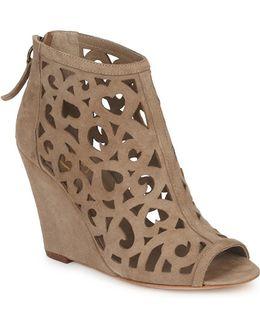 Jessica Women's Low Boots In Beige