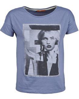 New Print Shirt Women's T Shirt In Blue