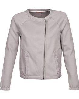 Biker Blouson Women's Jacket In Grey