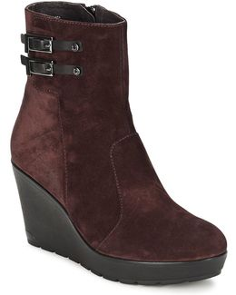 Janis Women's Low Ankle Boots In Red