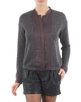 Blouson Knitmix Women's Cardigans In Grey
