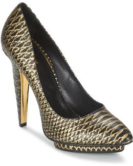 Yds622-uc168-d0007 Women's Court Shoes In Gold