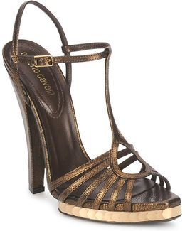 Qds627-pm027 Women's Sandals In Gold