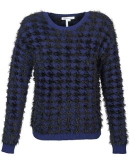 Textured Houndstooth Sweater