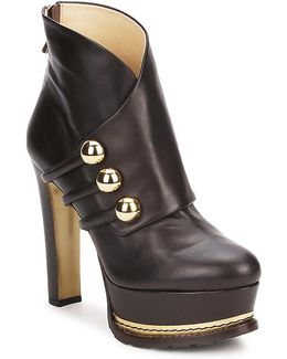 Ma2104 Women's Low Ankle Boots In Brown
