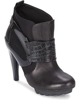 Winter Eros Women's Low Ankle Boots In Black
