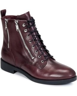 Montague Women's Low Ankle Boots In Red