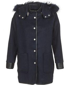 Elfie Women's Coat In Blue
