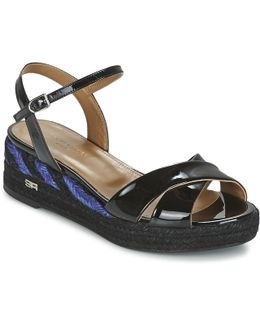 Sonia By - Stripes Women's Sandals In Black