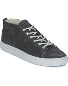 Lm19 Men's Shoes (high-top Trainers) In Black