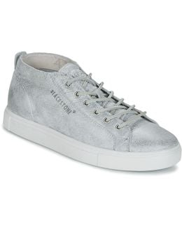 Lm22 Men's Shoes (high-top Trainers) In Silver