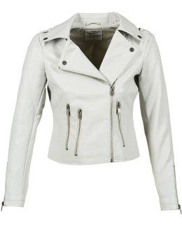 Odetar Women's Leather Jacket In Grey