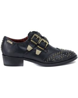 Inglese Borchie Due Fibbie Women's Casual Shoes In Multicolour