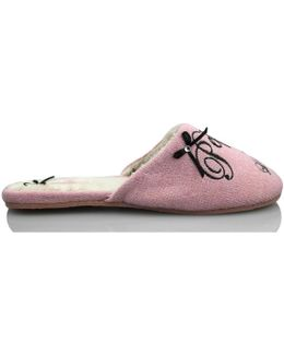 Shoes Domestic Woman. Women's Slippers In Pink