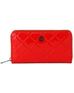 Armani Jeans P.foglio Red Women's Purse Wallet In Multicolour
