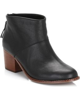 Womens Black Leila Leather Boots Women's Low Boots In Black