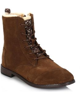 Womens Chocolate Brown Alpa Water Resistant Suede Boots Women's Low Ankle Boots In Brown