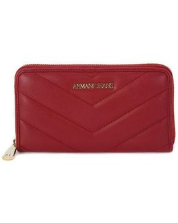 Armani Jeans Wallet Bordeaux Women's Purse Wallet In Multicolour
