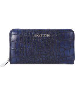 Armani Jeans P.foglio Navy Women's Purse Wallet In Multicolour