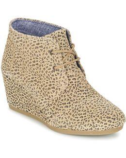 Desert Wedge Women's Low Boots In Beige