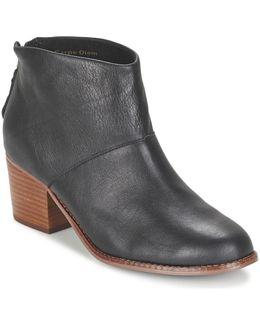 Leila Women's Low Ankle Boots In Black