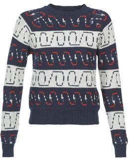 Yira R Knit Wmn L/s Women's Sweater In Blue