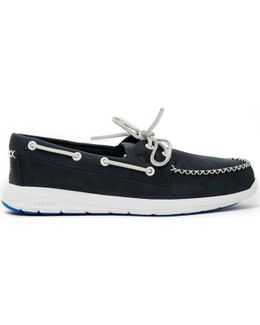 Sojourn 2-eye Leather Boat Shoe Navy Men's Boat Shoes In Blue