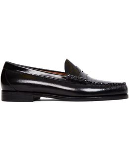 Weejuns Classic Penny Loafer Black Men's Loafers / Casual Shoes In Black
