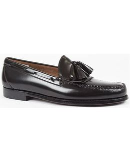 Weejuns Tassle Loafers Black Men's Loafers / Casual Shoes In Black