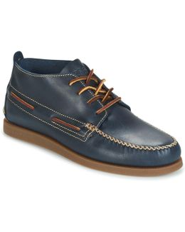 A/o Wedge Chukka Leather Men's Mid Boots In Blue