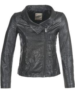 Afligar Women's Leather Jacket In Black