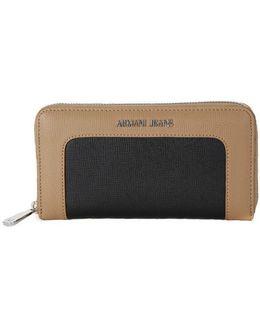 Armani Jeans Wallet Black Women's Purse Wallet In Multicolour