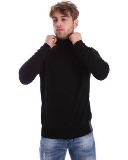 6xpmz9 Pm04z Maglia A Collo Alto Man Men's Polo Shirt In Black