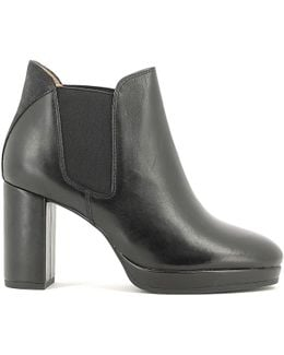 107442 Ankle Boots Women Women's Low Ankle Boots In Black