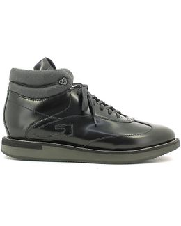 Su73411a Sneakers Man Black Men's Shoes (high-top Trainers) In Black
