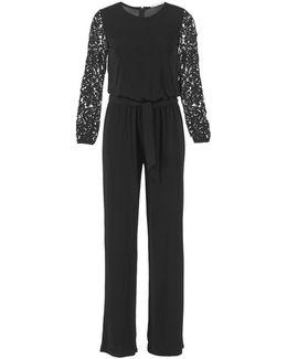 Lace Slv Jumpsuit Women's Jumpsuit In Black