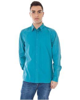 Gr_51696 Men's Long Sleeved Shirt In Blue