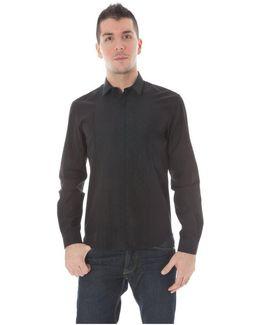 Gr_51689 Men's Long Sleeved Shirt In Black
