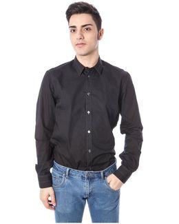 Gr_51686 Men's Long Sleeved Shirt In Black
