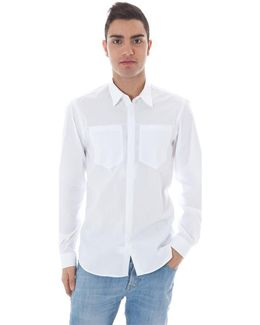 Gr_51664 Men's Long Sleeved Shirt In White