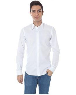 Gr_51658 Men's Long Sleeved Shirt In White