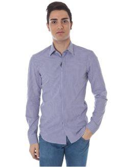 Gr_51657 Men's Long Sleeved Shirt In Purple