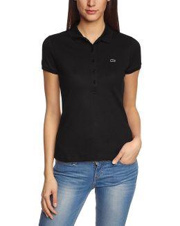 - Stretch Women's Polo Shirt Pf6949 Women's Polo Shirt In Black