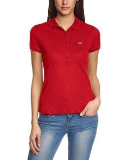 - Stretch Women's Polo Shirt Pf6949 Women's Polo Shirt In Red