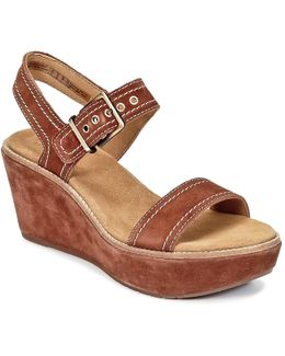 Aisley Orchid Wedge Sandals
